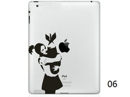 Hot Originality Cartoon-2 série vinyle Tablet PC Decal Sticker peau noire pour Apple iPad 1/2/3/4 / Mini ordinateur portable autocollant Skins