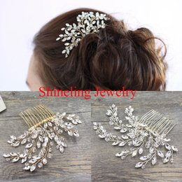 $enCountryForm.capitalKeyWord NZ - ashion Jewelry Jewelry SLBRIDAL Classic Western style Handmade Pearls and Crystals Wedding Comb Bridal Hair comb Hair accessories Bride...