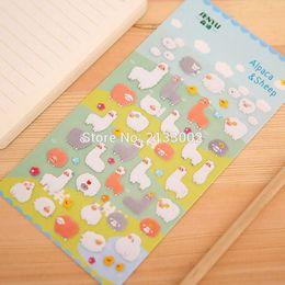 $enCountryForm.capitalKeyWord Canada - Super Cute Cartoon Alpaca 3D Stickers Diary Sticker Scrapbook Decoration Stickers PVC Stationery