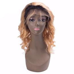 $enCountryForm.capitalKeyWord UK - Ombre Blonde Human Hair Wig Dark BlackTo Honey Blond 1b #27 Full and Soft Brazilian Hair Bleached Knots Natural Hairline Baby Hair