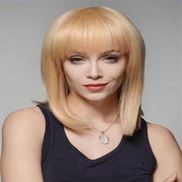 Pure white wig online shopping - FULL LAE WIGS Pure Black White Wig Cordon Brazilian Women Virgin Straight Wire Human Hair Full Lace Wig Silk iIs Full Of My Shoes
