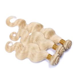 7a grade virgin hair bundles 2019 - Grade 7A Blonde Brazilian Virgin Hair Weave 613# Color Human Hair Extension Brazilian Body Wave Blonde Human Hair Weave