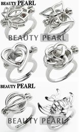 $enCountryForm.capitalKeyWord Canada - 10 Pieces Pearl Ring Cage Mixed Lotus Butterfly Heart Rose Ball Fish Cages Ring Lockets for Children