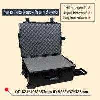 Wholesale Plastic Camera Cases NZ - trolley Tool case 2750 waterproof safety equipment case camera box Hard Plastic sealed case tool box with pre-cut foam lining 624*498*353mm