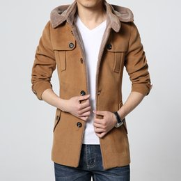 $enCountryForm.capitalKeyWord Canada - Fall-Fashion Brand Clothing Wool Coat Men Middle Long Jackets And Coats Mens Outdoor Warm Woolen Overcoat Casual Skim Peacoat Jacket