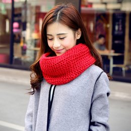 $enCountryForm.capitalKeyWord Canada - Wholesale- Winter Scarf Women New 2017 Unisex Men Women's Warm Winter Scarves Female Knit Crochet Wraps Neck Warmers Long Loop Scarf Shawl