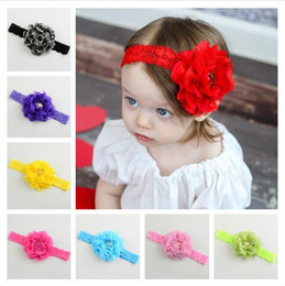 Baby Infant Hair Bands Canada - Hot Pretty Baby Lace Flower Headband Infant Girls Cute Hair Band NewBorn Lovely Headwrap Children Elastic Accessories Sweet hair bands CK402