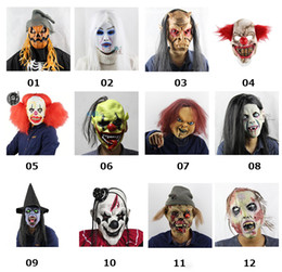 $enCountryForm.capitalKeyWord Canada - TOY Free Shipping Joker Clown Costume Mask Creepy Evil Scary Halloween Clown Mask