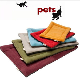 mini cat figures 2019 - High Grade Soft Polar Fleece Cozy Pet Dog cat Crate Mat Kennel Cage Pad Bed Pet Cushion 6 Colors p99 cheap mini cat figu