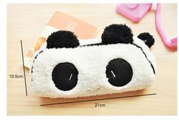 $enCountryForm.capitalKeyWord NZ - 5PCS new arrive Kawaii Plush Fluffy Panda Pen Pencil BAG Pouch Case Packs Pendant Cosmetic & Beauty Pouch Bag Case Coin Purse Wallet BAG