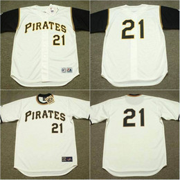 f5ddcf5da ... Mens Pittsburgh Pirates 1966 21 Roberto Clemente Jersey 1971 Stitched  Embroidery Logos Cooperstown Throwback Baseball Jerseys ...