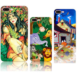 cell phones cases cartoon UK - For Apple iPhone 7 case cartoon animal world TPU painting cell phone case Ultra thin soft Back silicone Cover shell for iphone 5S 6S 7 Plus