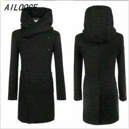 Discount Pea Coat Men Hood | 2017 Men Wool Pea Coat Hood on Sale ...