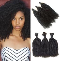 Bulk Hair Braids NZ - Peruvian Bulk Hair No Weft No Attachment Kinky Curly Human Hair Bulk For Braiding Free Shipping LaurieJ Hair