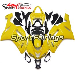 Chinese  Complete New Injection Fairings For Kawasaki 636 ZX-6R ZX6R 07 08 2007 - 2008 Sportbike ABS Motorcycle Fairing Kit Gloss Yellow Body Frames manufacturers