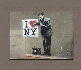 $enCountryForm.capitalKeyWord Canada - Banksy Street Art-I Love New York Doctor, I heart NY - Large Canvas Art Print Home Decor Wall Art Painting