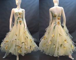 royal blue ballroom dresses 2019 - Standard Ballroom Dance Competition Dresses Women 2017 New Design High Quality Stage Tango Waltz Ballroom Dancing Dress