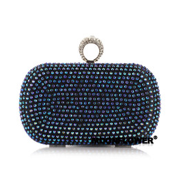 $enCountryForm.capitalKeyWord NZ - Exception clutch colorful diamond finger ring bag business bag evening bag hard case women's handbag
