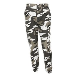 HigH waist camo pants online shopping - Women Camouflage Pants Casual Pink Camo Sweatpant Fashion Harem Autumn Winter Jeans High Waist Loose Ladies Trousers