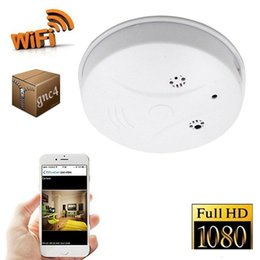Wifi security cams online shopping - 1080P WIFI Mini IP camera Smoke Detector Full HD Remote monitor P2P CCTV Camera Nanny Cam Home security Surveillance Camera mini DVR