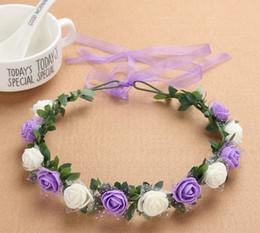 Boho floral crown online shopping - Bohemian Wreath Terylene Flower Headband  Garland Crown Festival Wedding Bride f7bcaed21e7