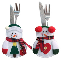 $enCountryForm.capitalKeyWord NZ - Christmas decoration small Snowman knife and fork bag creative home dining table set Christmas Snowman knife and fork set
