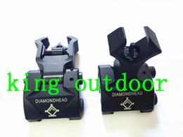 Diamondhead DIAMOND Iron Sight Flip-Up Rear Front Sight Складные железные прицелы для всплывающих плавающих боевых рукавов Picatinny Rail