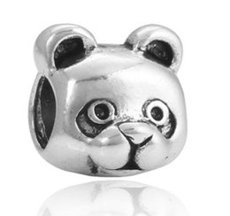 Chinese  Fits Pandora Style Sterling Silver Bracelet Gold Panda Raccoon Beads Charms For Diy European Style Snake Chain Fashion DIY Jewelry Wholesale manufacturers