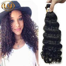 Sales Human Bulk Hair Canada - Hot Sale 7A Deep Curly Brazilian Bulk Human Hair For Braiding 100% Unprocessed Human Braiding Hair Bulk No Weft Brazilian Braiding Hair