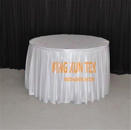 $enCountryForm.capitalKeyWord Canada - Wholesale Price Satin Table Skirt \ Table Cloth Skirting For Wedding And Event Decoration Free To Door Shipping