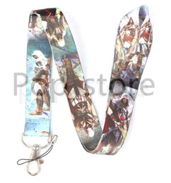 China Hot! Classic games Assassin's Creed mobile Phone lanyard Cartoon lanyard Keychain straps charms. suppliers