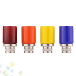 Drip tips mouthpieces for ego online shopping - Newest Glass Drip Tip Colorful Pyrex Glass Atomizer Mouthpieces for ego atomizer RDA RBA Vaporizer e Cigarettes DHL Free