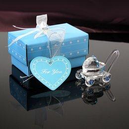 Nuova vendita Passeggino di cristallo Baby Shower battesimo Favore Girl Boy Carriage Party Wdedding Game Decorations Craft di cristallo