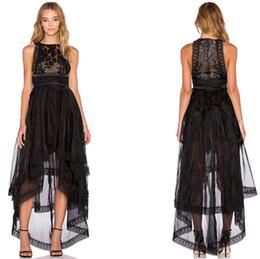 Hi low black maxi dress