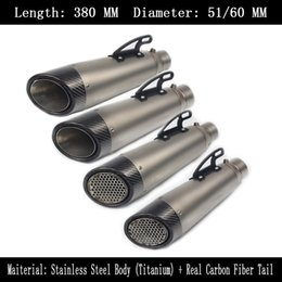 $enCountryForm.capitalKeyWord NZ - 60 mm 51 mm Universal Motorcycle Stainless Steel Carbon Fiber Exhaust Pipe For Modified Scooter Dirt Slip On Dirt Street Bike Motorcycle