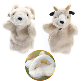 kids hand puppets UK - Lovely Sheep Soft Hand Puppet Baby Kids Developmental Soft Doll Plush Toy Parent-child Interactive Puppet Goat Hand Puppet Toys