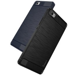 huawei p8 carbon black. ipaky huawei p8 lite carbon fiber case dirt-resistance brushed flexible for back black e