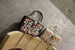 $enCountryForm.capitalKeyWord Canada - 2017 summer fashion women handbags Rhinestones message bags letter ladies single shoulder bags dress bags flower flap