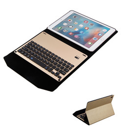 """Ipad Tablet Stands NZ - Ultra Thin Aluminum Alloy Wireless Bluetooth 3.0 Version Keyboard Case For iPad Pro 12.9"""" Holder Stand Tablet Cover High-Quality PU Leather"""