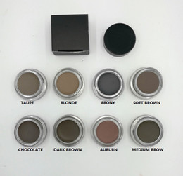 Wholesale HOT Pomade Medium Brown Waterproof Makeup Eyebrow g Blonde Chocolate Dark Brown Ebony Auburn Medium Brown TALPE gift
