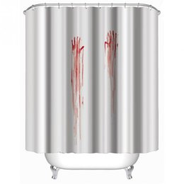 online shopping blood handprint shower curtain stylish family bathroom shower curtain ring pull easy to install