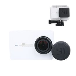 Discount xiaomi yi accessories - Wholesale-For Xiaomi yi Accessories Lens Cap Cover for Xiaomi Yi 2 4K Waterproof Housing Case Lens Protective Cover