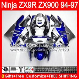 $enCountryForm.capitalKeyWord Canada - 8Gifts 23Colors For KAWASAKI NINJA ZX 9 R ZX9R 94 95 96 97 900CC 49HM9 ZX Blue silver 9R ZX900 ZX900C ZX-9R 1994 1995 1996 1997 Fairing kit