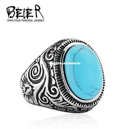 dhgate rings 2019 - Dhgate 2017 Natural Oval Opal Green Stone Ring Stainless Steel Vintage Nobel Palace Ring For Woman Man Europe BR8-186
