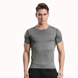 Wholesale Tightening Short Sleeve Men's Soccer Running Sports Bottom Moisture Moisturizing Quick Elasticity High Elastic Fitness Clothes