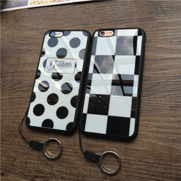 $enCountryForm.capitalKeyWord Canada - Fashion For IPhone 6 6S 6s plus 5G 5S Mobile Phone Accessories Silicone Case Soft Lattice Black Spot Girls Phone Cover no rope