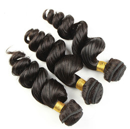 Chinese  Grade 10A-Virgin Hair!!! brazilian Hair Weave weft loose Wave Hair Double Weft No Shedding NO Tangle Durable 3 pcs  lot manufacturers