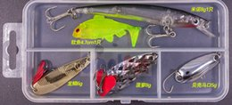 Free Soft Bait Minnows NZ - fishing Lure Kit Complete Set With Hard Lures Soft Bait Accessories Case of Minnow Crank free shipping 24 pcs