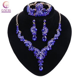Indian wedding decoration accessories online indian wedding online shopping women crystal wedding jewelry sets for bride party costume accessories bridal decorations necklace earring junglespirit Choice Image