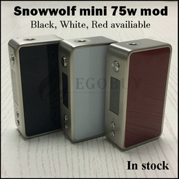 $enCountryForm.capitalKeyWord Canada - 100% original Snowwolf Mini 75w Temp-Control mod Snow wolf 75 18650 battery TC Box Mods vs sigelei 150w plus 80w vt75 nano pico